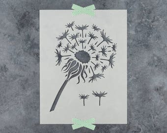 Dandelion Stencil - Reusable DIY Craft Stencils of a Dandelion Flower