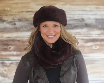 Sable Luxury Faux Fur Neck Warmer