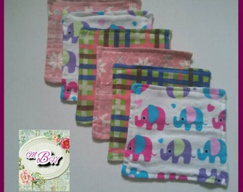 Starter set, cloth wipes, family cloth, large, XL, 9x9, custom, flannel wipes, reusable wipes, canadian shops, eco friendly