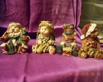 Christmas Figurines - Set of 4