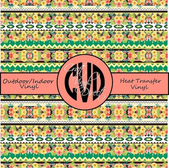 Tropical Patterned Vinyl // Patterned / Printed Vinyl // Outdoor and Heat Transfer Vinyl // Pattern 743