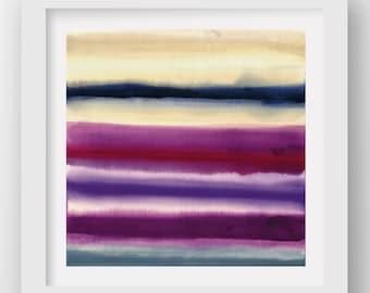 COLOR + RAIN THURSDAY, limited edition giclee art print, rain art, abstract wall art, modern art print