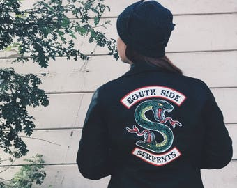 South Side Serpents Leather Jacket; Riverdale