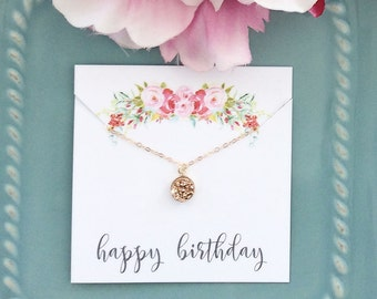 Rose Gold Necklace, Rose Gold Druzy Necklace Dainty Gold Necklace Best Friend Birthday Gift Bridesmaid gift Best selling jewelry Bridesmaid