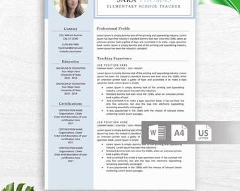 Modern Resume Template, CV Template, Professional and Creative Resume, Word Resume, Instant Download, Docx
