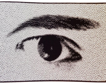 SEE: knitted image of the eye as you've never SEEN it before...
