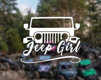 DECAL – [Jeep Girl - v2] - Vinyl Decal, Bumper Sticker, Jeep