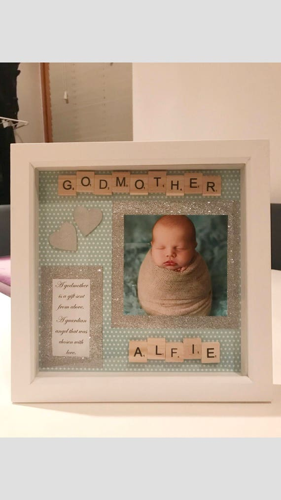 Personalised Godmother or Godfather Gift Box Frame