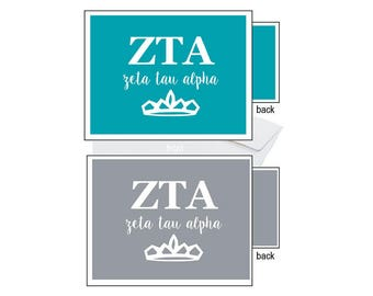Zeta Tau Alpha Notecards - Letters