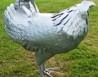 Large Chicken Garden Sculptures