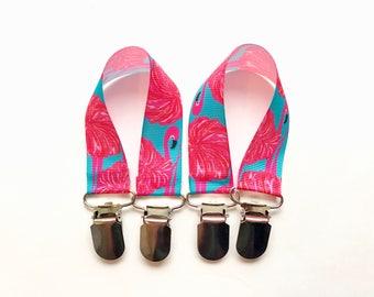 Pink Flamingo Mitten Clips