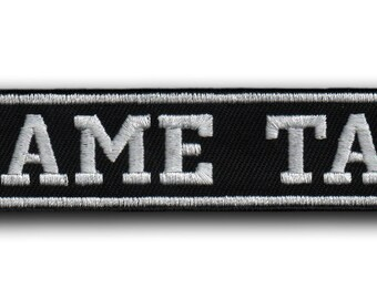 Custom Embroidered Your Text Name Tag PATCH Biker