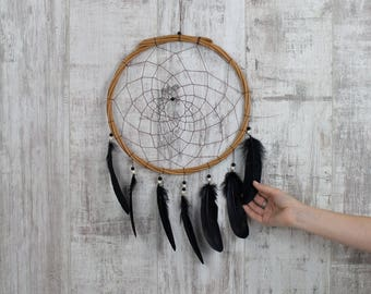 Wall Hanging Dream Catcher Black - Boho Dream Catcher Wall Hanging with 20 colour choices!