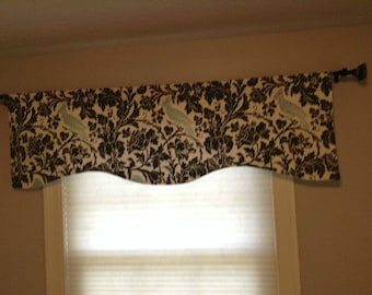 Window Treatments-CHOOSE SIZE-LINED-Valance-Curtain-Kitchen-Bedroom-Bathroom-Dining Barber Bird-Width x16,18,20 Purple/Gray/Navy/Premier