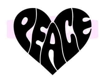 hippie logo design etsy
