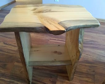 Rustic End Table, Rustic night stand, End table, wood table, small table