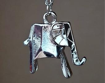 Collier éléphant origami, éléphant en origami, meilleur collier ami, animaux en origami, collier origami
