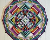 Open Mind Open Heart, an 18 inch, 12-sided, Ojo de Dios, by custom order