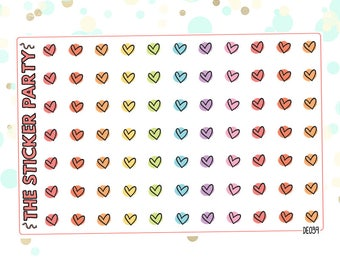 Doodle Hearts Planner Stickers