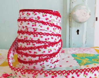 Cherry & Strawberry Crochet Edge Bias Tape (No. 63)