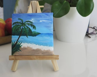 Beach tiny painting