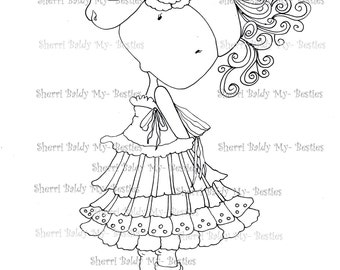 INSTANT DOWNLOAD Digital Digi Stamps Big Eye Big Head Dolls My Besties Pals My Little Dimples Img011  By Sherri Baldy