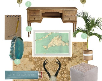 Simple and Sweet Package | Mood Board, E-Design, Interior Design Services