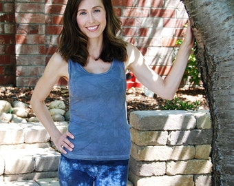 Gray Mist Tank Top by Splash Dye Activewear (Matching Top For Smoke Gray Pants & Leggings)