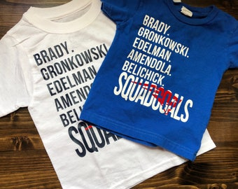 Patriots SQUAD GOALS tshirt for babies, toddlers and kids