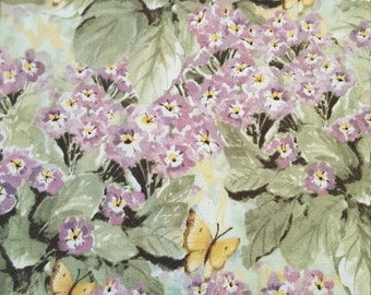 Cotton Fabric Natures Grace Primrose Susan Winget 1 yard Violet Sage colors Lovely Novelty quilt Fun Fabric for Creative Genius Projects