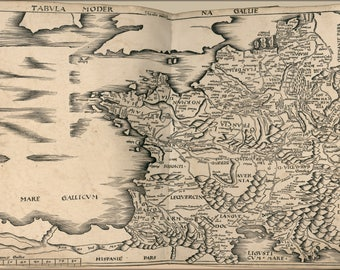 Poster, Many Sizes Available; Map Of France 1513