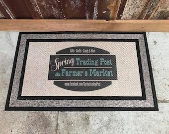 Custom Doormat with Full Color Image - Full Color - Business Logo Doormat - Household decor Doormat - Custom Door Mat - Fathers Day Gift
