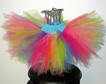Neon rainbow tuturainbow tutubright fairy tutufairy costumefairy tutugirls tutu flower girl tutu birthday tutu wedding tutunewborn & Neon fairy tutu | Etsy