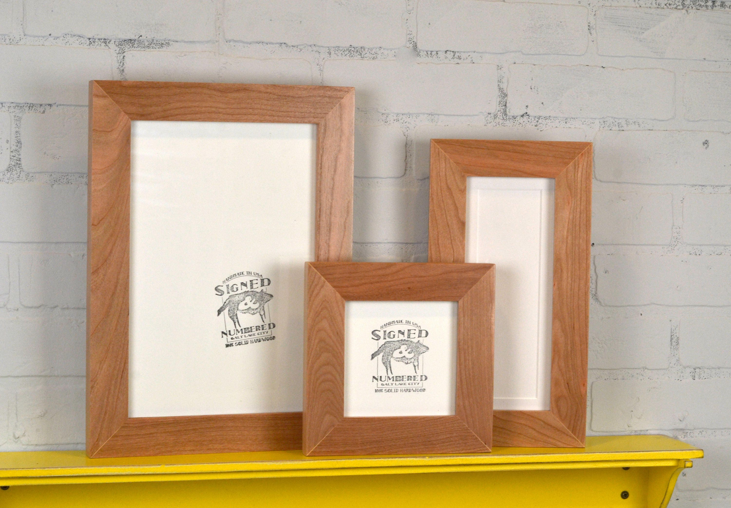 Solid Natural Cherry Picture Frame 1.5 Wide Style Choose your large ...