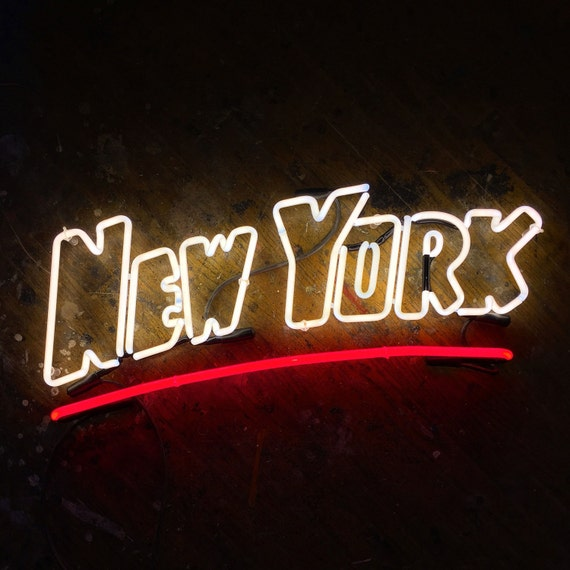 New York Postcard Neon Sign, Ready Made