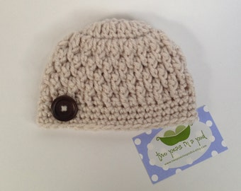 Baby Hat - Crocheted Baby Hat - Choose Your Size/Color - Photo Prop - Boy or Girl Hat - Knit Hat