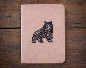 Lonely Grizzly Plain Notebook