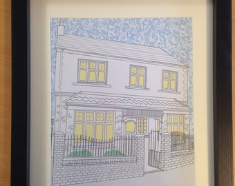 Personalised  house / home illustration