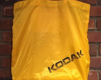 80s Kodak Camera Yellow Nylon Tote Bag