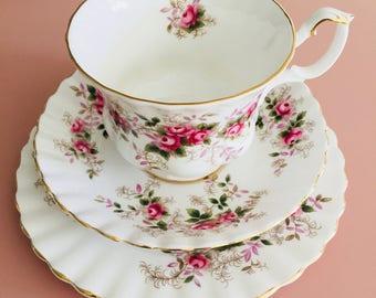 Royal Albert Lavender Rose Vintage tea cup trio set  - demitasse cup; saucer and plate