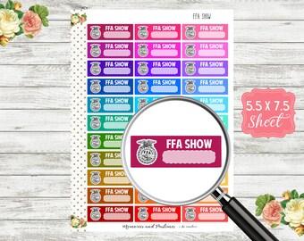 FFA Planner Stickers - Future Farmers of America Stickers - FFA Show Stickers - FFA Stickers - M109