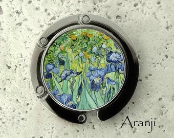 Van Gogh Irises purse hanger, tabletop purse hanger, purse hanger, purse hook, Iris purse hook, Van Gogh purse hanger, AR102PH