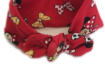 Headband, Disney, Minnie Mouse, Red and Black