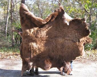Large Buffalo Skin Rug (149-1-L-G111)