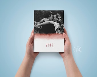 2018 Planner Custom Photos – WATERCOLOR // Custom Planner // Personalized Planner // Memory Book
