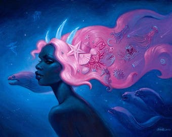 Cosmic Mermaid Limited Edition Archival Print.