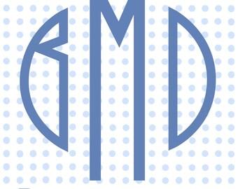 Polka Dot Personalized Monogram Gift Tag Printable