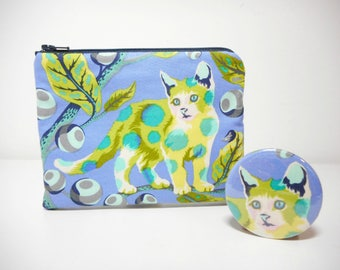 Disco Kitty Coin Purse Set, Tabby Road Change Purse and Pocket Mirror