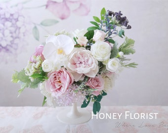Honey Florist Wedding Table Floral Arrangement Centerpiece Decor, Silk Flower wedding reception, Table number , Home decor,