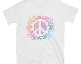 Peace Sign Shirt, Ladies Shirt, Gift For Her, Peace Love, Hippie, Peace and love shirt